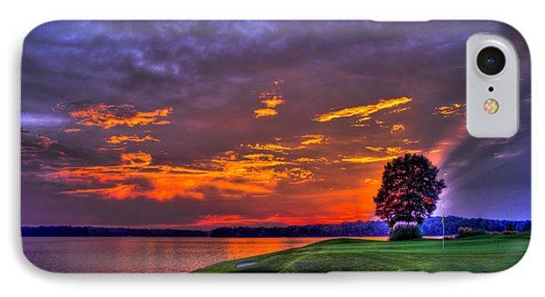 The Landing Golf Sunset On Lake Oconee  IPhone Case by Reid Callaway