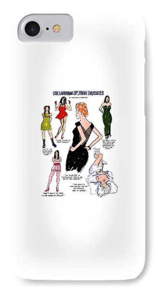 The Language Of Prom Dresses IPhone Case by Michael Crawford