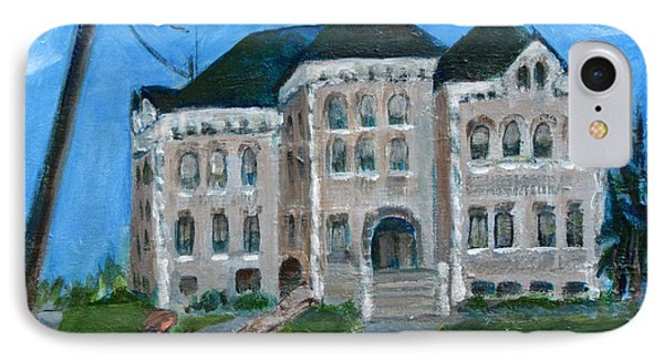 The Last Bell At West Hill School Phone Case by Betty Pieper