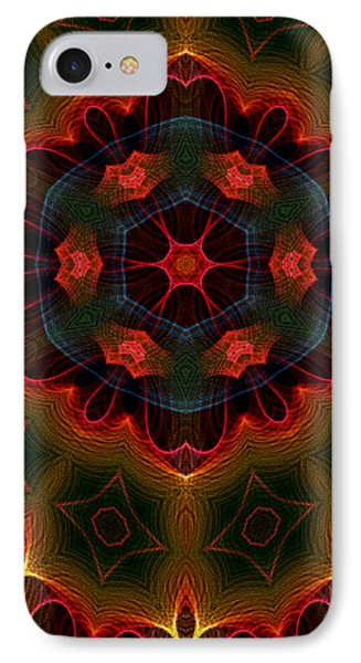 IPhone Case featuring the digital art The Last Flower II by Owlspook