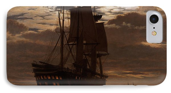 The Last Indian Troopship Hms Malabar IPhone Case by Charles Parsons Knight