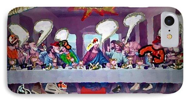 IPhone Case featuring the painting The Last Last Supper by Lisa Piper