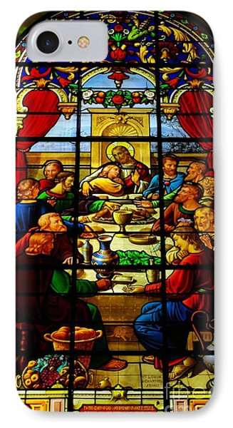 IPhone Case featuring the photograph The Last Supper In Stained Glass by John S