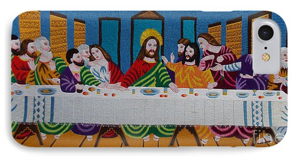 The Last Supper Hand Embroidery Phone Case by To-Tam Gerwe
