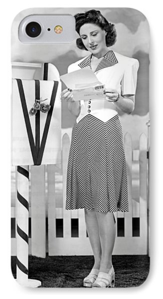 The Latest In Sport Dresses For The Forties IPhone Case by Underwood Archives