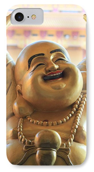IPhone Case featuring the photograph The Laughing Buddha by Amy Gallagher