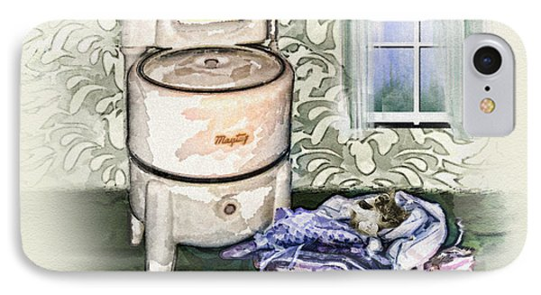 IPhone Case featuring the digital art The Laundry Room by Mary Almond