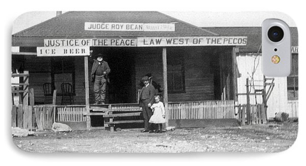 The Law West Of The Pecos IPhone Case by Underwood Archives