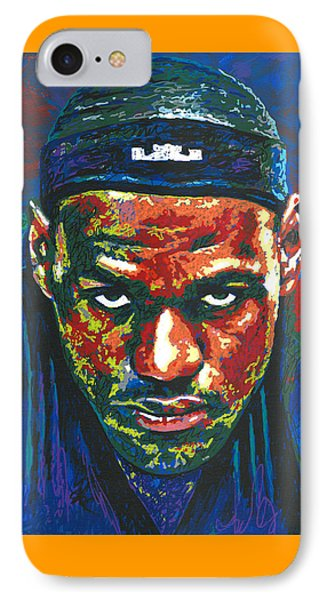 The Lebron Death Stare IPhone 7 Case by Maria Arango