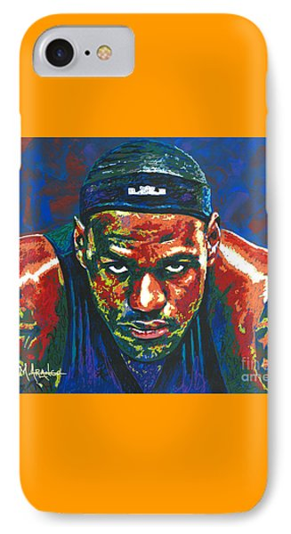 The Lebron Death Stare Phone Case by Maria Arango