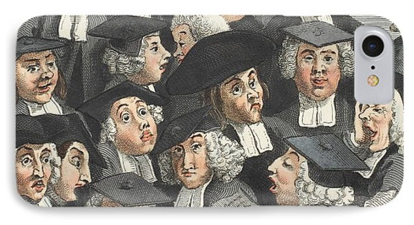 The Lecture, Illustration From Hogarth IPhone Case