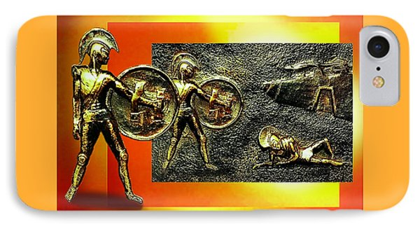 IPhone Case featuring the relief The Legends Of Troy. . .  by Hartmut Jager