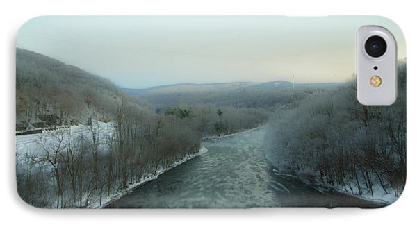 The Lehigh River - Jim Thorpe Pa IPhone Case by Bill Cannon
