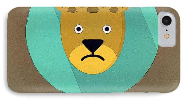 The Leopard Cute Portrait IPhone Case by Florian Rodarte
