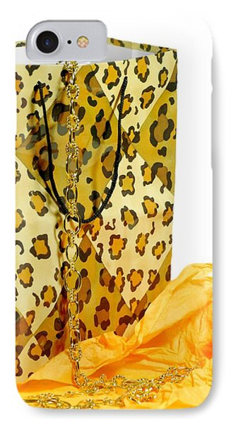 The Leopard Gift Bag Phone Case by Diana Angstadt