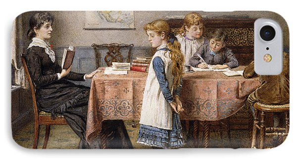The Lesson IPhone Case by  George Goodwin Kilburne