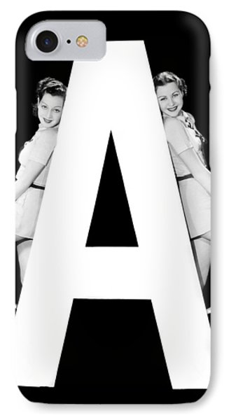 The Letter a And Two Women IPhone Case
