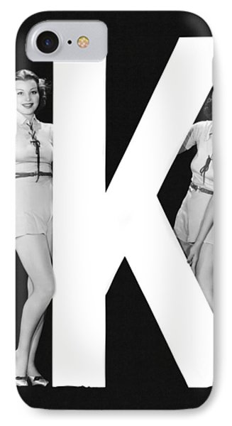 The Letter k  And Two Women IPhone Case by Underwood Archives