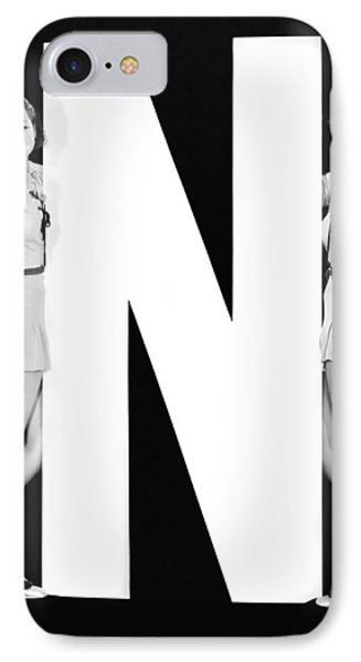 The Letter n  And Two Women IPhone Case by Underwood Archives