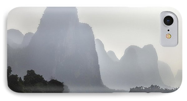 The Li River China IPhone Case by Lynn Bolt