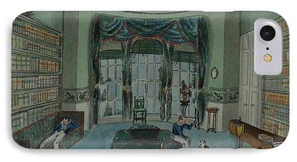 The Library, C.1820, Battersea Rise Phone Case by English School