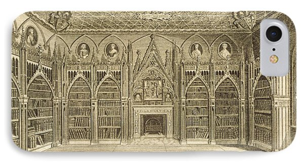 The Library, Engraved By Godfrey Phone Case by English School