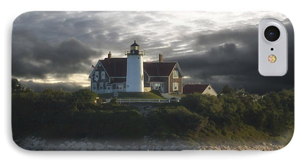 The Light At Nobska Point  IPhone Case by Constantine Gregory