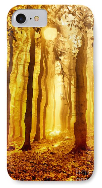 The Light Forest Paint IPhone Case by Odon Czintos