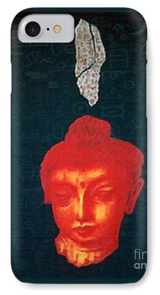 IPhone Case featuring the painting The Light Of Face_ Sold by Fei A