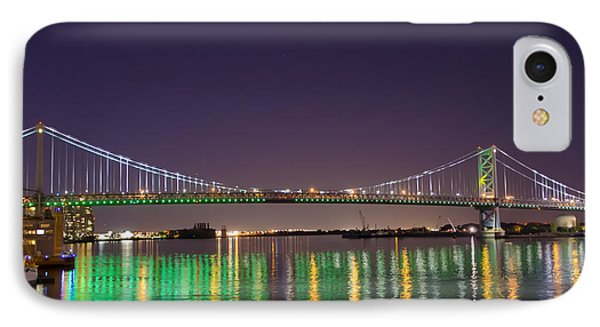 The Lighted Ben Franklin Bridge Phone Case by Bill Cannon