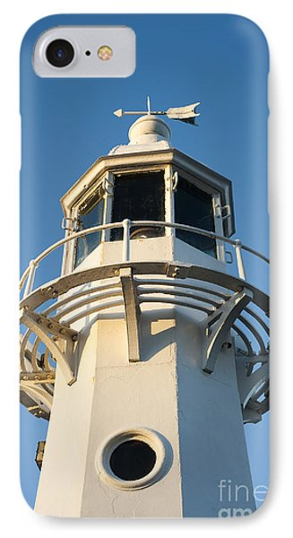 The Lighthouse At Mevagissy IPhone Case by Anne Gilbert