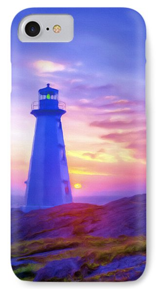 The Lighthouse At Sunset IPhone Case by Tyler Robbins