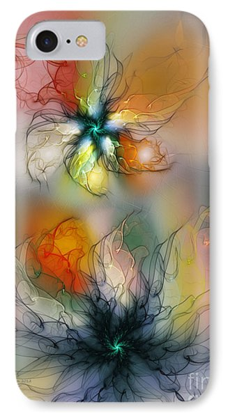 The Lightness Of Being-abstract Art IPhone Case by Karin Kuhlmann