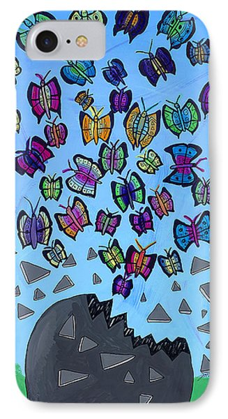 IPhone Case featuring the painting The Limit Breakers by Artists With Autism Inc