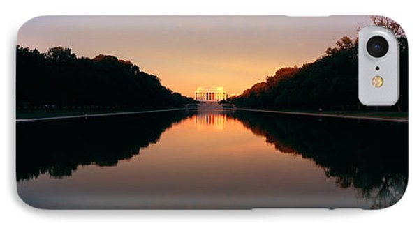 The Lincoln Memorial At Sunset IPhone 7 Case by Panoramic Images