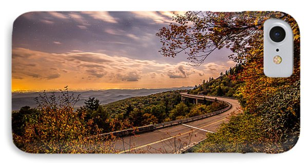 The Linn Cove Viaduct Full Moon IPhone Case by Robert Loe