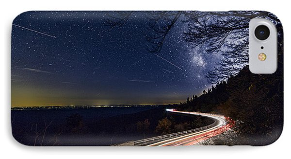 The Linn Cove Viaduct Milky Way IPhone Case by Robert Loe