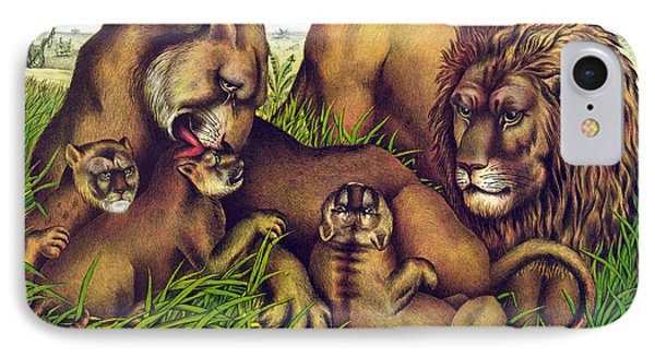 The Lion Family Phone Case by Georgia Fowler