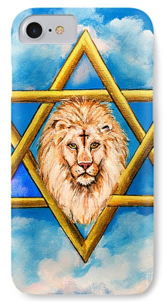The Lion Of Judah #5 IPhone Case by Bob and Nadine Johnston