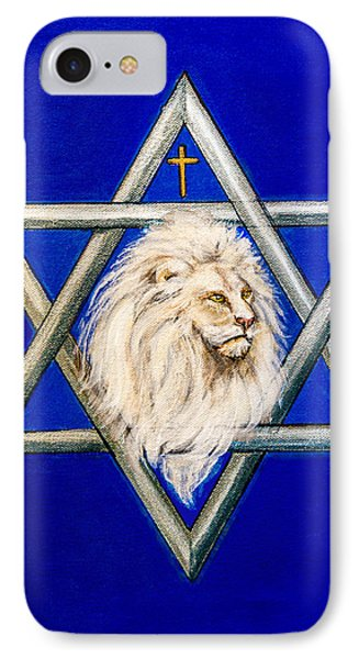 The Lion Of Judah #6 IPhone Case by Bob and Nadine Johnston