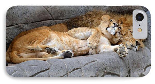 The Lion Sleeps Tonight Phone Case by Eva Kaufman