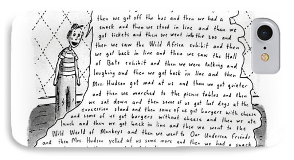 The Litany Of Fun ...and Then We Got On The Bus IPhone Case by Roz Chast