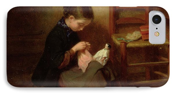 The Little Dressmaker IPhone Case by Pierre Edouard Frere