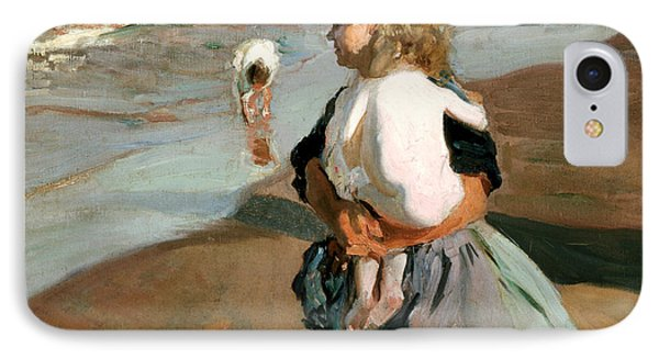The Little Granddaughter IPhone Case by Joaquin Sorolla y Bastida