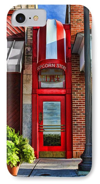 The Little Popcorn Shop In Wheaton IPhone Case by Christopher Arndt