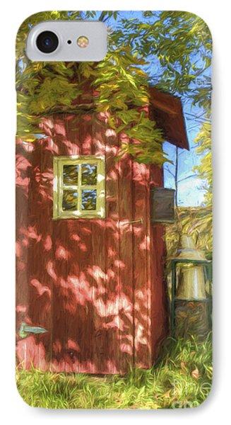 The Little Red House IPhone Case by Veikko Suikkanen