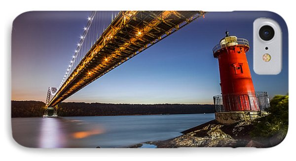 IPhone Case featuring the photograph The Little Red Lighthouse by Mihai Andritoiu