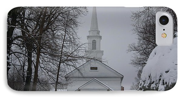 IPhone Case featuring the photograph The Little White Church by Dora Sofia Caputo Photographic Art and Design