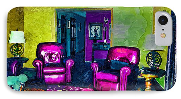 IPhone Case featuring the painting The Living Room by Tyler Robbins