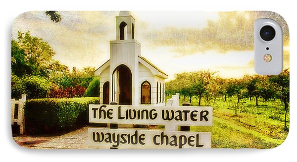 The Living Water Wayside Chapel Phone Case by Scott Pellegrin